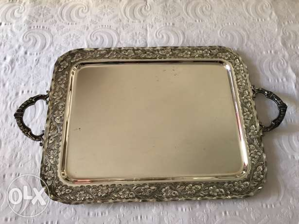 Large silver plated tray for sale