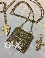 three 18th century solid silver greek religious artifacts, talismans