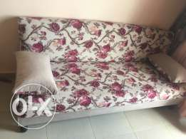 Beautiful pink flowery one couch