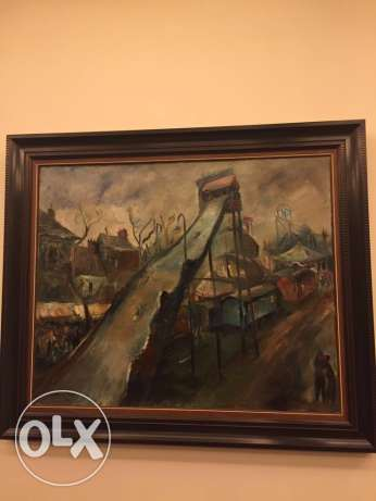 original oil painting by famous artist georges Cyr جبيل -  1