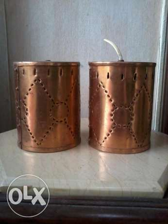 Old copper, lamps inside, hand made, from Germany, 20 cm,