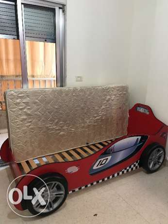 Children's Bed - Boys Car Bed