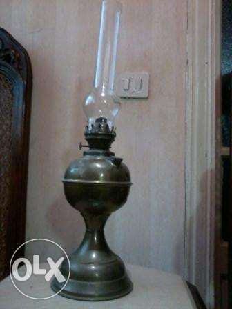 Antique Lamp 130 years, copper hand made sealed L&B, 60cm, from German