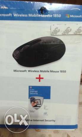 2in 1 McAfee® Internet Security & microsoft wireless mobile mouse حازمية -  1