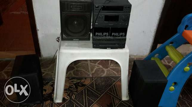 Stereo philips 3 bafle