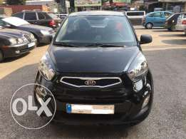 Kia Picanto 2012-Black-Like new