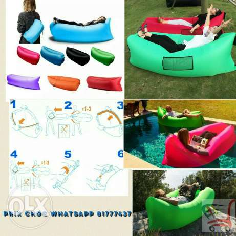 Inflatable Bed Air Lounge. 57 000 LBP FREE DELIVERY