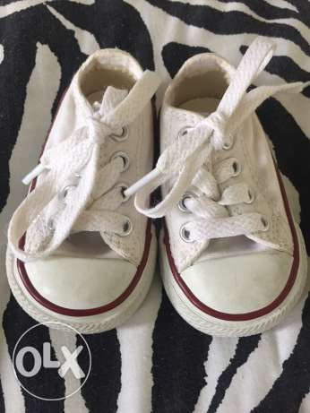 white Converse for babies , not used size 18