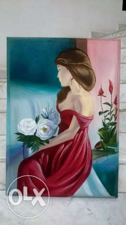 HE LOVES ME, HE LOVES ME NOT - oil on canvas - 50*70cm