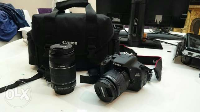 Canon 600D and it's 2 lenses (18-55mm and 55-250mm)