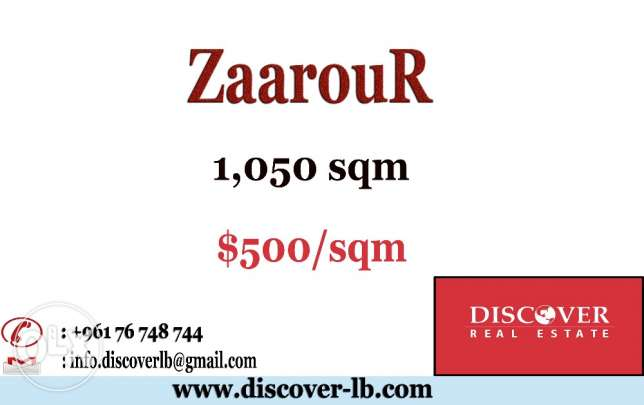 1050 Land for Sale in Zaarour Club