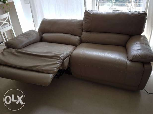 Reclining Electronic Leather Couch from USA
