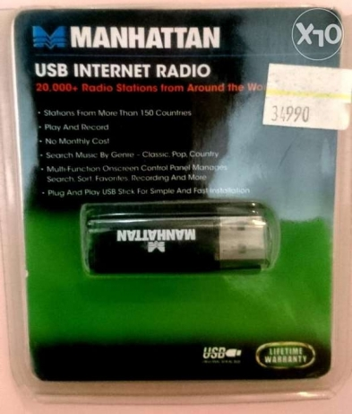 Manhattan - USB Internet Radio (Model 179980)