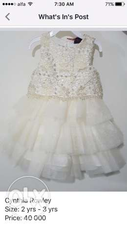 Cynthia Rowley dress, size: 2yrs-3yrs