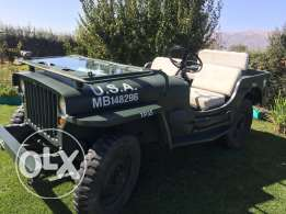 Jeep Willis 1942 for sale orمقايضة