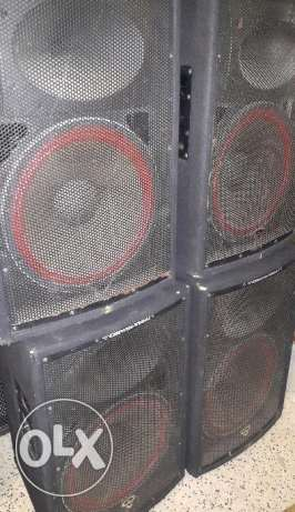 Sound system 4 speakers cerwin vega 500 watts rms for dj party