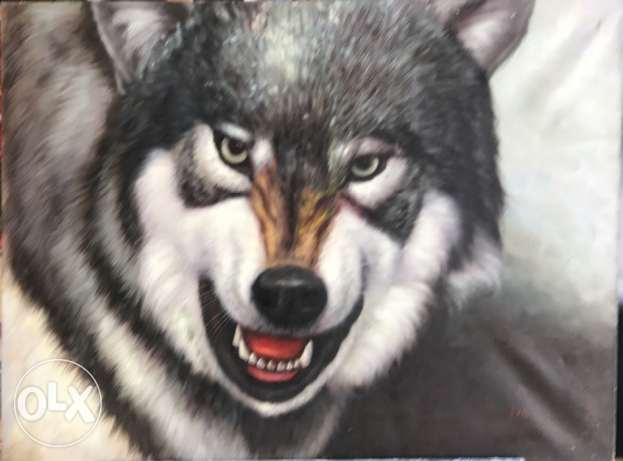 Wolf Oil Painting For Sale At A Great Price.
