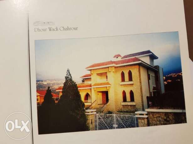 very nice villa in wadi chahrour 1166 sqm for sale