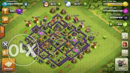 Clash of clan village th8
