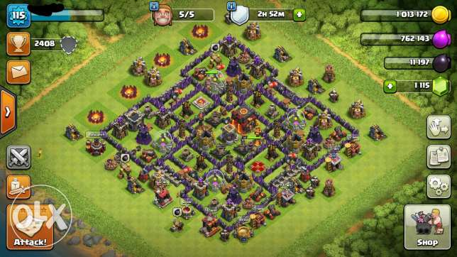 Coc town hall 10 lvl 115 & clash royale arena 11