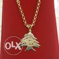 18k Cedrus of Lebanon With Necklace
