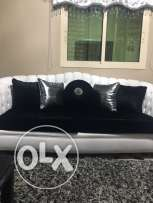 large classical/modern sofa black and white