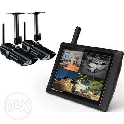 "G955 Guardian 9"" Touchscreen LCD with 4 Outdoor Cameras"