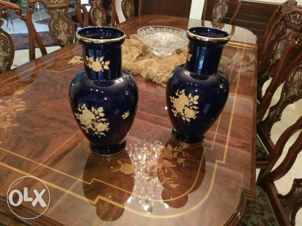2 hight quality antique glass vases