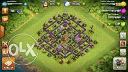 Clash of clans th8 (90% max)