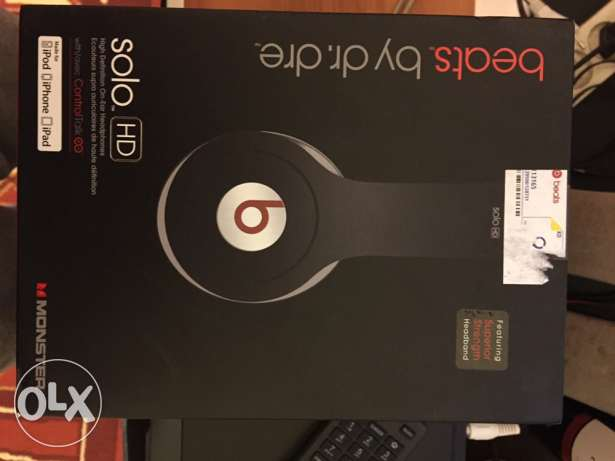 beats by dr.dre solo hd brand new not used حازمية -  4