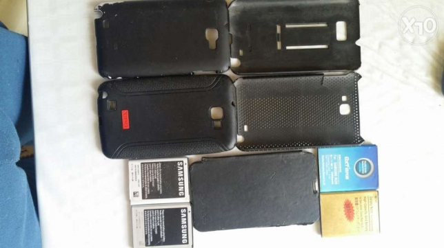 4 batteries and 5 covers for samsung note 1