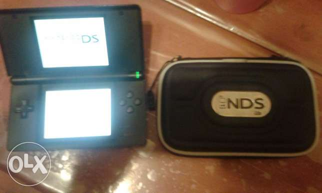 nintendo ds lite blue black + bag + power v good cond