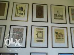 Arab Art lithographs collection sold indiviudally
