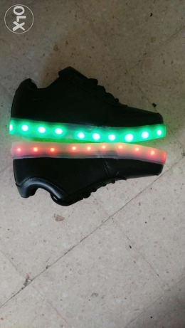 LED Shoes LED watch LED light selfi stick data charging earphones