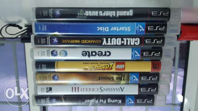 9 PS3 and PSmove CDs