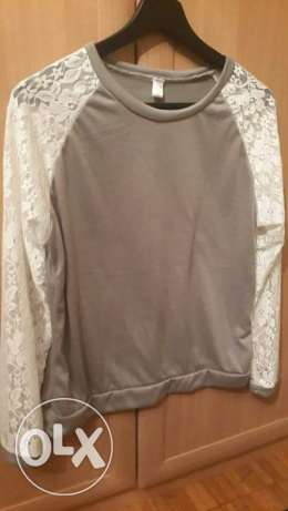 Top long and laces sleeve