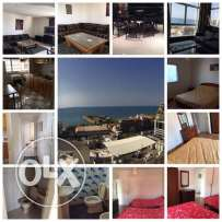 for rent,fully furnished appartment in KASLIK,125 meters ,sea view —