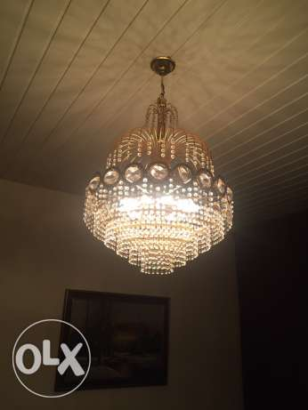 chandelier crystal gold plated