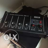 Ahuja mmx-50 5 channel microphone mixer
