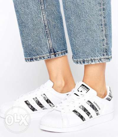 Adidas Originials SuperStar Trainers With floral Print Three Strips
