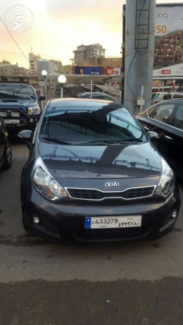 Kia rio hatshback f.o mod 2013 black 2 airbag +ABS jnouta 17 like new جديدة -  1