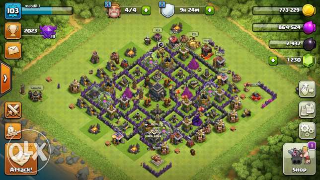 clash of clans and boom beach for sale