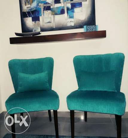 "two chairs ""blue"" For sale"