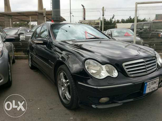 Mercedes C32 AMG full 349 hp v6 supercharged انطلياس -  2