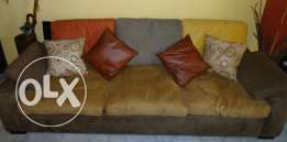 Sofa, coloured daim.