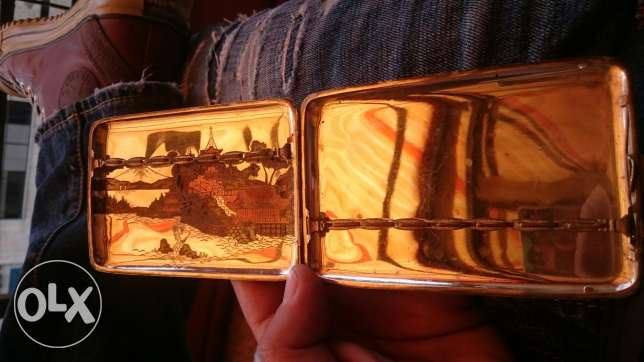 Pure Silver Japanese Roll Cigarettes box Very old over than 200 years