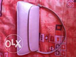 real leather pink bag