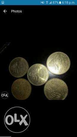 Old lebanies coins 1Livres &50Piasters