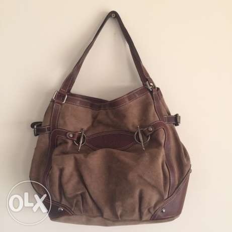 Suede and Leather Bag انطلياس -  1