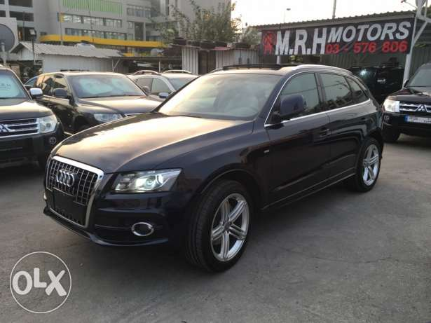 Audi Q5 S Line 2009 Blue Black Top of the Line in Excellent Condition! بوشرية -  2